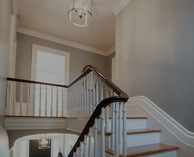 Staircase trim and crown molding Southern Ontario