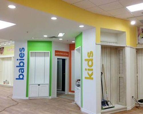 kids and babies change room Carters Southern Ontario